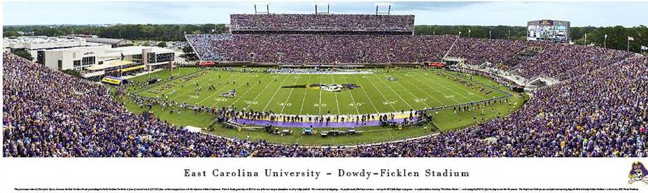 East Carolina Dowdy-Ficklen Stadium Print