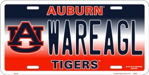 Auburn War Eagles License Plate