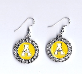 Appalachian State Rhinestone Earrings