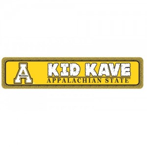 Appalachian State Kids Kave sign
