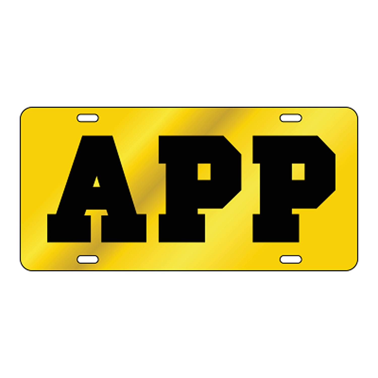 Appalachian State Mirrored License Plate