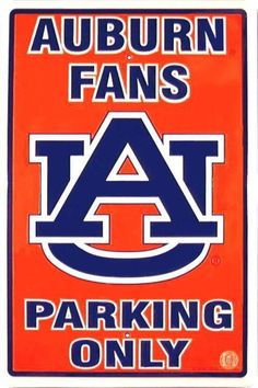 Auburn Parking Sign