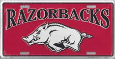 Arkansas Razorbacks License Plate