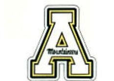 Appalachian State car magnet
