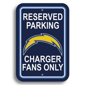 Los Angeles Chargers Parking Sign