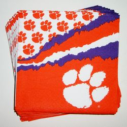 Clemson cocktail napkins