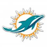 Miami Dolphins car magnet