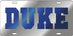 Duke mirrored license plate