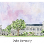 Duke watercolor by Patsy Gullett