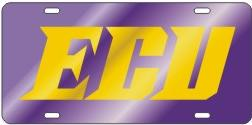 East Carolina mirrored license plate