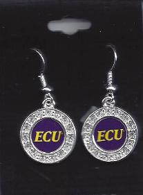 East Carolina earrings