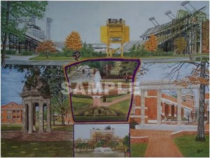 Kenny Glenn East Carolina campus print