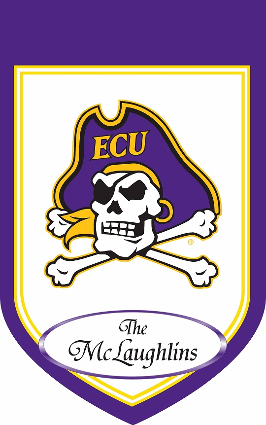 East Carolina Personalized House Flag