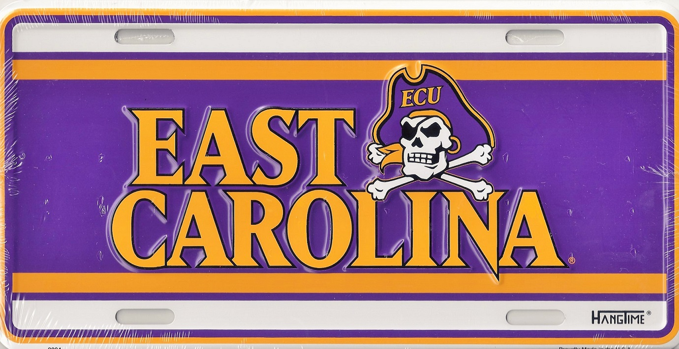 East Carolina License plate