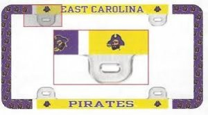 East Carolina license plate frame