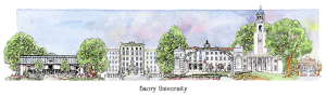 Emory Campus watercolor