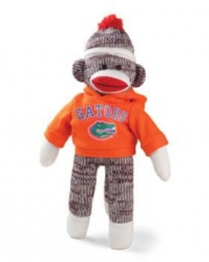 Florida Gator sock monkey