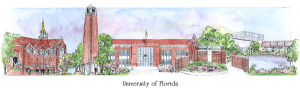 Florida campus watercolor