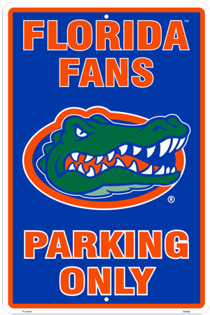 Florida Gators Parking Sign