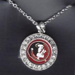 Florida State rhinestone necklace