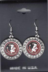 Florida State Rhinestone earrings