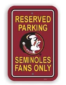 Florida State parking sign