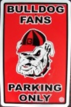 Georgia Bulldogs parking sign