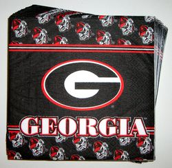 Georgia Bulldogs napkins