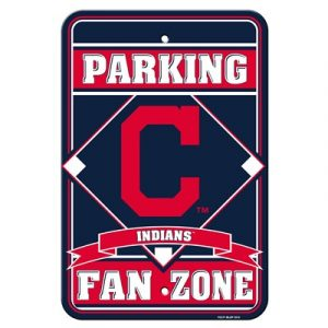Cleveland Indians Parking Sign