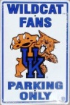 Kentucky Wildcats parking sign