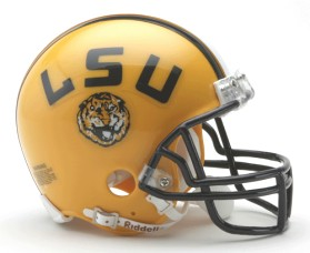 LSU mini helmet