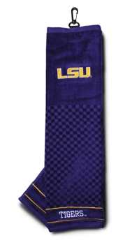 LSU golf towel