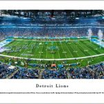 Detroit Lions Ford Field Stadium Print