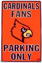 Louisville Cardinals parking sign