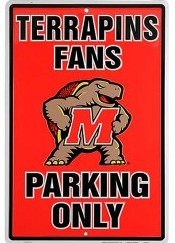Maryland Terrapins parking sign