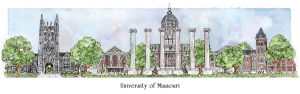 Missouri campus watercolor