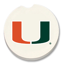 Miami Hurricanes car coasters
