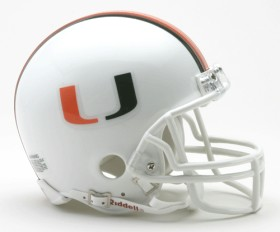 Miami Hurricanes mini helmet