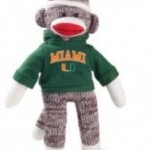Miami Hurricanes Sock Monkey