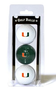 Miami Hurricanes golf balls