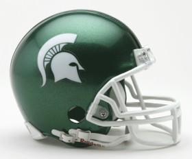 Michigan State mini helmet