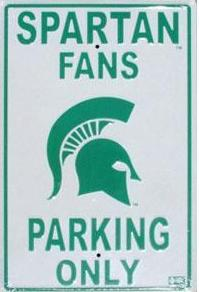 Michigan State parking sign