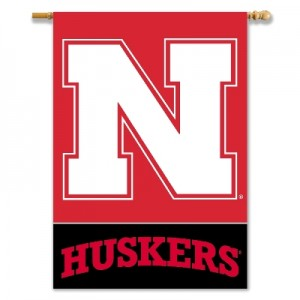 Nebraska Cornhuskers House Flag