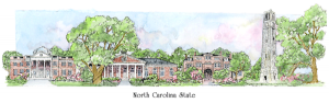 NC State Campus Watercolor