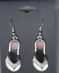 NC State Flip Flop Earrings