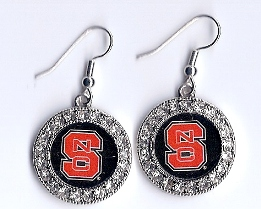 NC State earrings