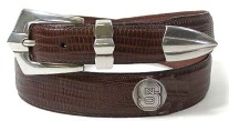 NC State Leather belt