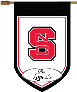 NC State personalized house flag