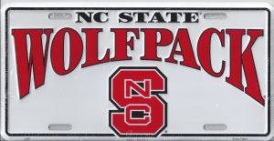 NC State License Plate