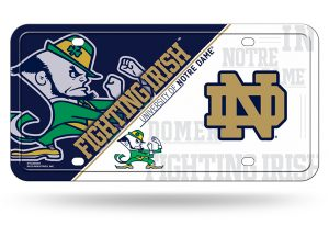 Notre Dame License Plate